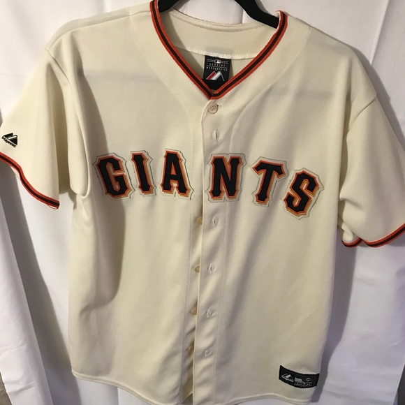 size 40 f7f42 bb694 Men's Authentic Majestic SF Giants Jersey